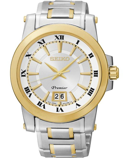 Seiko Men's Stainless Bracelet Watch 28mm