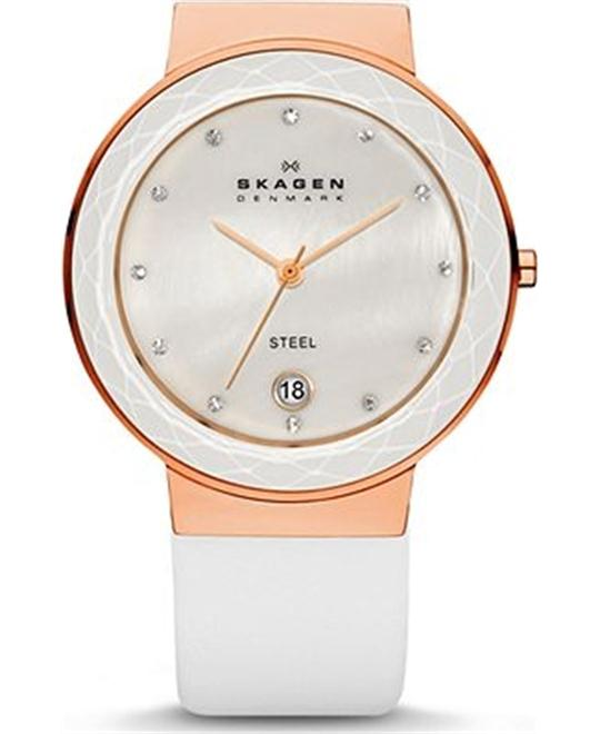 SKAGEN CLASSIC WHITE WOMEN'S WATCH
