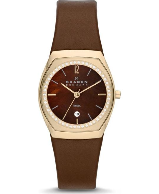 Skagen Klassik Three-Hand Brown Ladies Watch 28mm