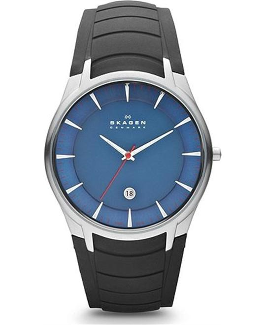 SKAGEN MEN'S BLACK BLUE WATCH