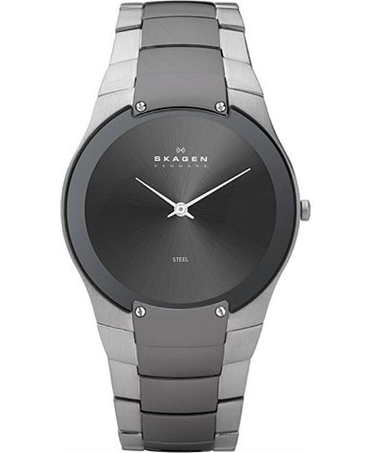 SKAGEN MEN'S CHARCOAL WATCH