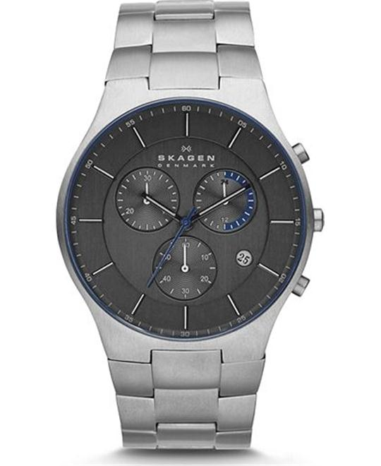 SKAGEN MEN'S CHRONOGRAPH TITANIUM WATCH