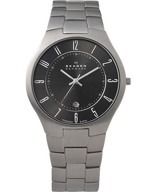 SKAGEN MEN'S THREE-HAND TITANIUM WATCH