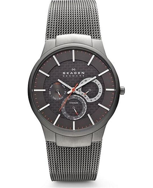 SKAGEN MEN'S TITANIUM AND WATCH