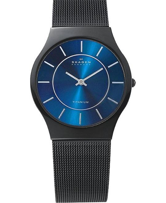 SKAGEN MEN'S TWO-HAND TITANIUM WATCH
