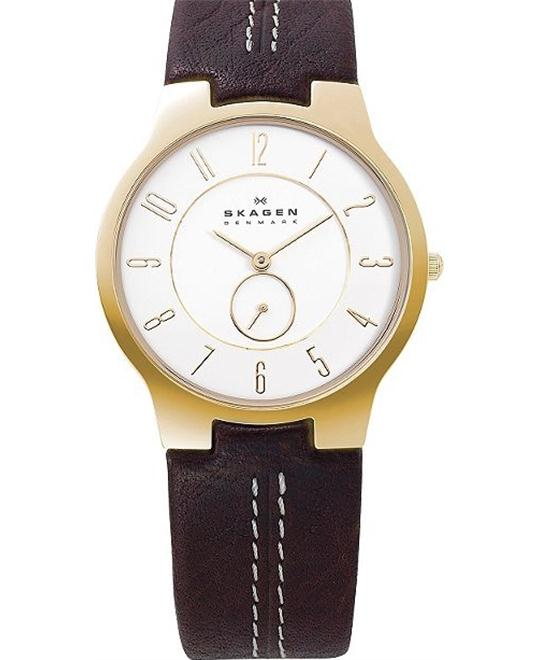 SKAGEN MEN'S TWO-HAND WATCH