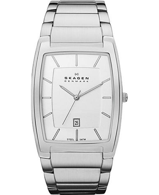SKAGEN SILVER TONE MEN'S WATCH