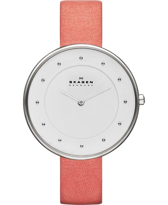 Skagen Women's Gitte Quartz 2 Hand Orange Watch 38mm