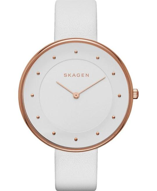 Skagen Women's Gitte Rose Gold-Tone Stainless Steel Watch 38mm