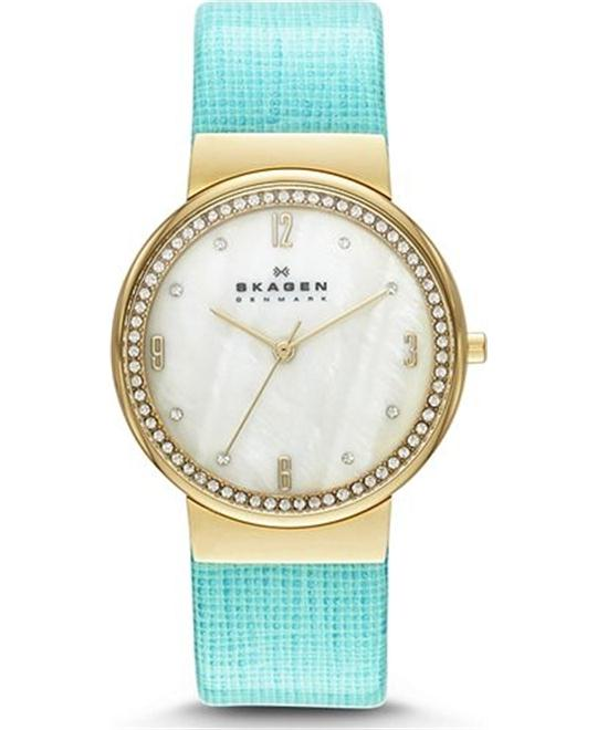 SKAGEN WOMEN'S WATCH - GOLD-TONE 34MM