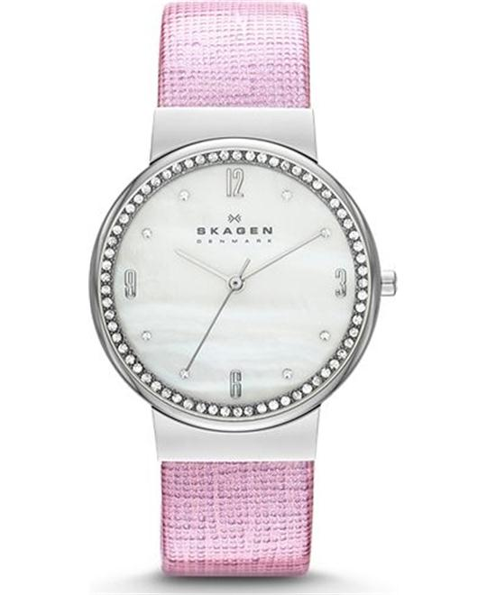 SKAGEN WOMEN'S WATCH – PURPLE/SILVER-TONE 34MM