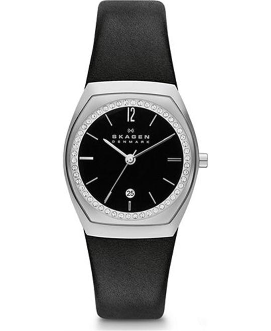 SKAGEN WOMEN'S CHARLOTTE  WATCH - BLACK