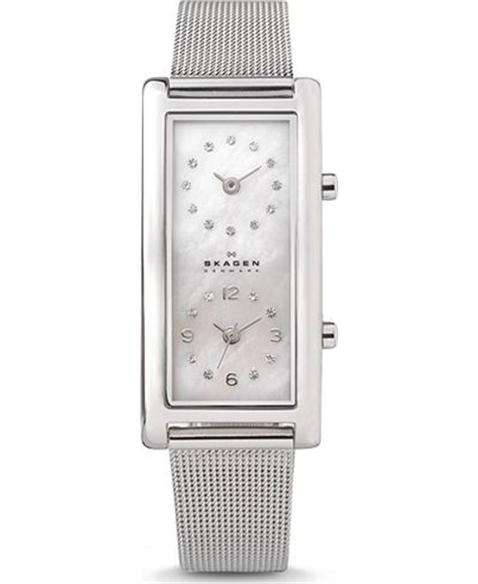 SKAGEN WOMEN'S DUAL-TIME WATCH 20MM