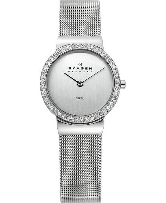 SKAGEN WOMEN'S GLITZ CASE & CHROME 26MM