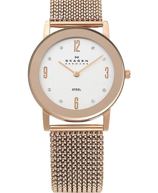 SKAGEN WOMEN'S ROSE GOLD TONE WATCH 32MM