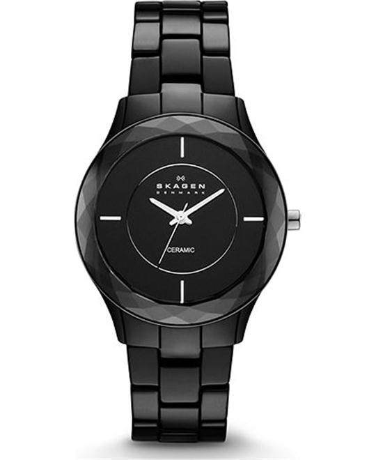 SKAGEN WOMEN'S THREE-HAND CERAMIC WATCH 35MM