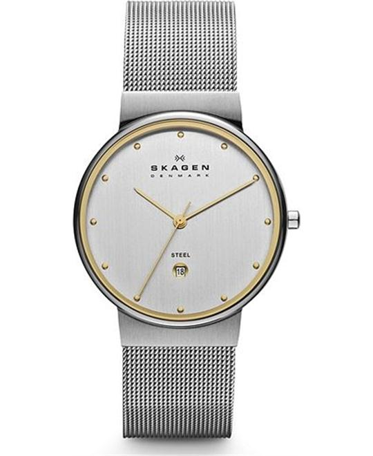 SKAGEN WOMEN'S THREE-HAND OVERSIZE WATCH