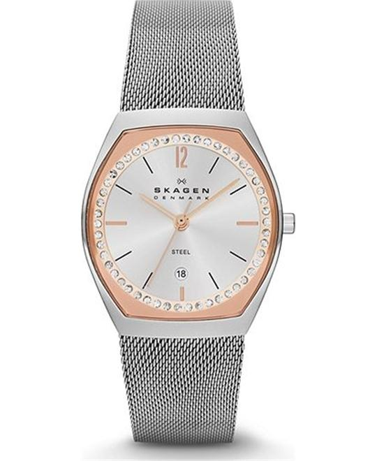 SKAGEN WOMEN'S THREE-HAND WATCH, 28MM