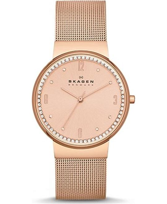 SKAGEN WOMEN'S THREE-HAND WATCH, 34mm