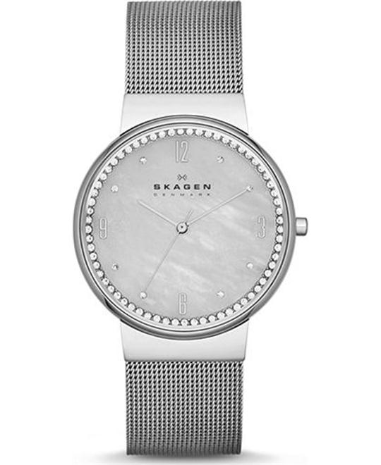 SKAGEN WOMEN'S THREE-HAND WATCH 34MM