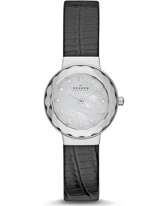 SKAGEN WOMEN'S THREE-HAND WATCH - BLACK 25MM