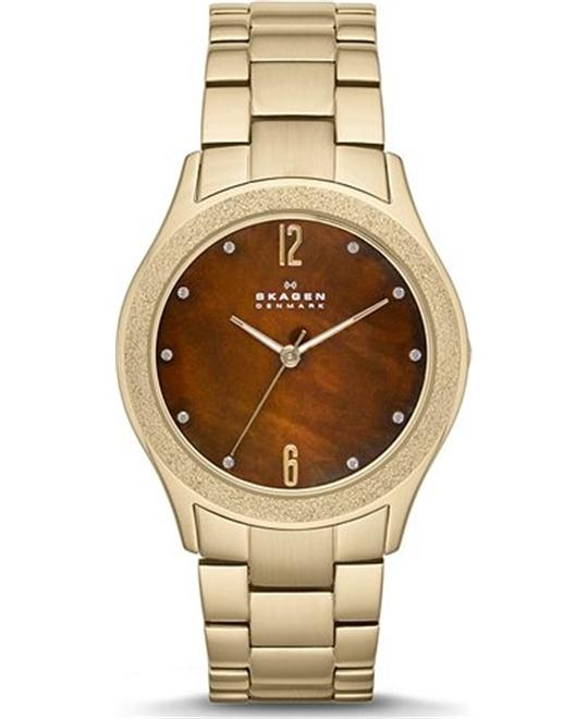 SKAGEN WOMEN'S WATCH- GOLD TONE 36MM