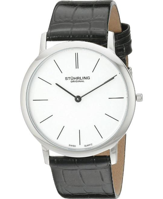 Stuhrling 601.33152 Men's Ascot Ultra Thin Embossed Watch 38mm