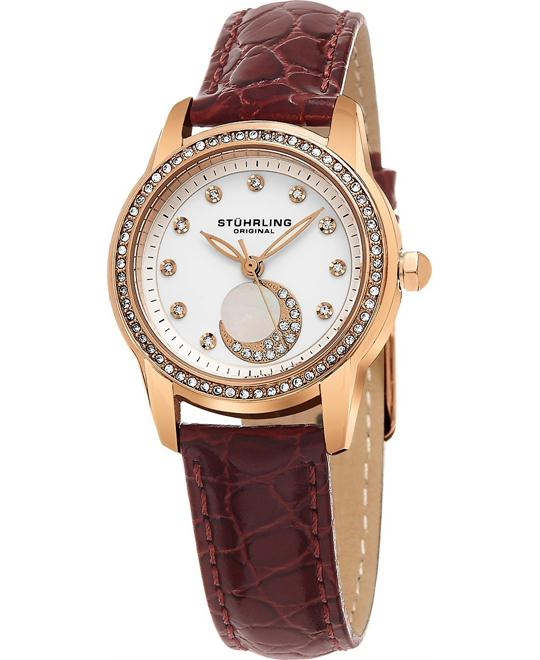 Stuhrling Original   Analog Display Quartz Burgundy Women's Watch 32mm
