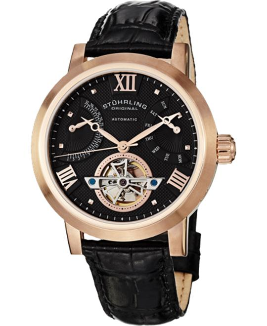 Stuhrling Original 372.33451 Classic 16k Rose Watch 43mm