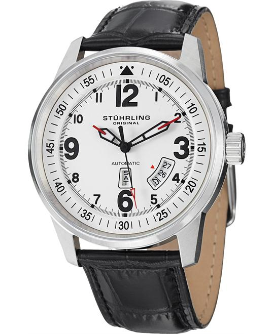 Stuhrling Original 378L.01 Aviator Tuskegee Automatic Watch 46mm