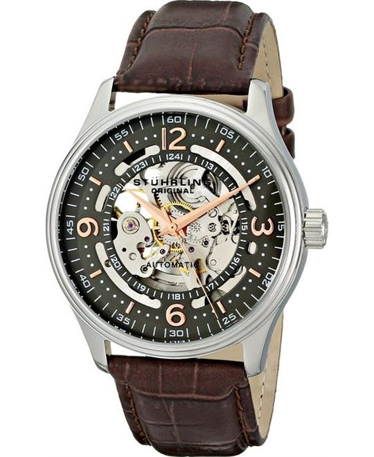 Stuhrling Original 730.02 Men's Automatic Skeleton Watch, 42mm