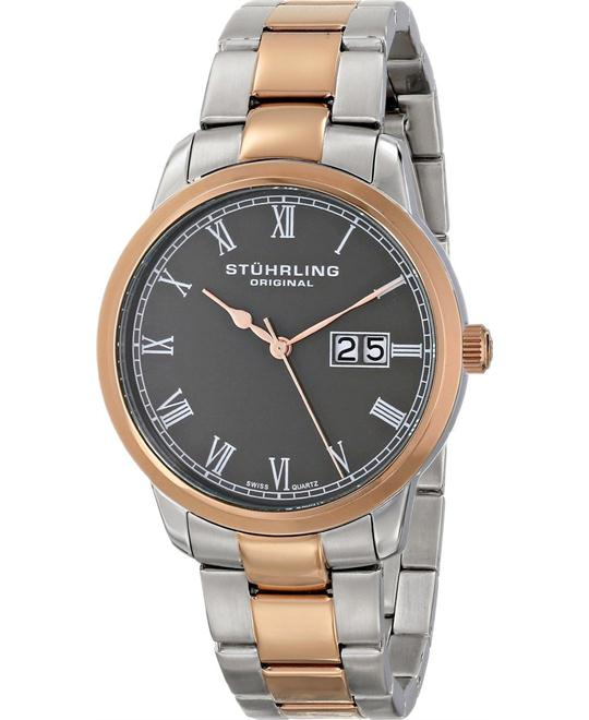 Stuhrling Original 831B.03 Cuvette Panache Swiss Watch 40mm