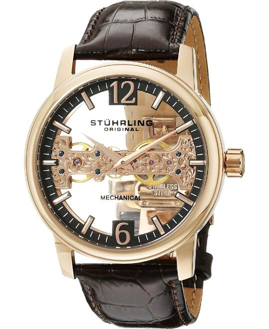 Stuhrling Original 841.03 Men's Aristocrat Cardinal Rose Watch 46mm