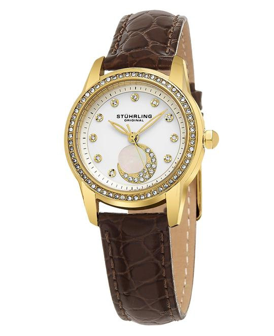 Stuhrling Original  Analog Display Quartz Brown Women's Watch 32mm