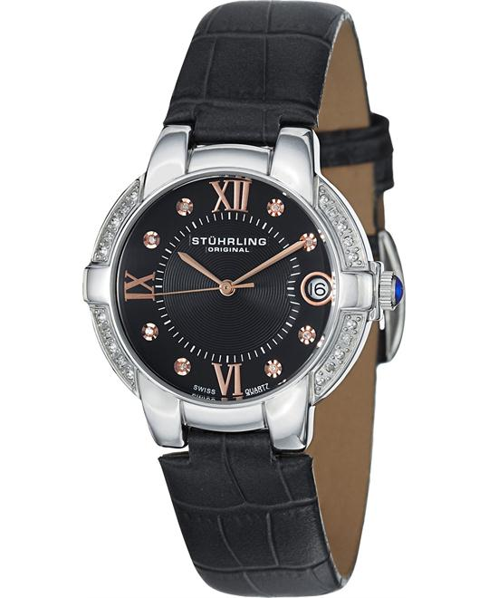 Stuhrling Original  Diamond Black Women's Watch 33mm