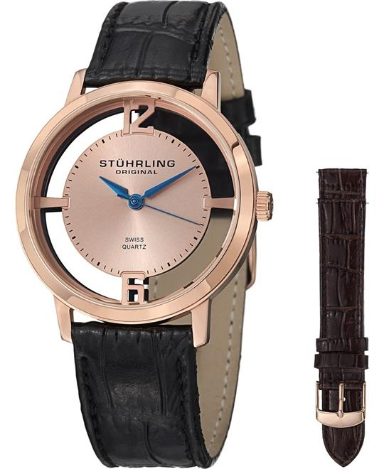Stuhrling Original GP14695 Men's Swiss Watch Set 40mm