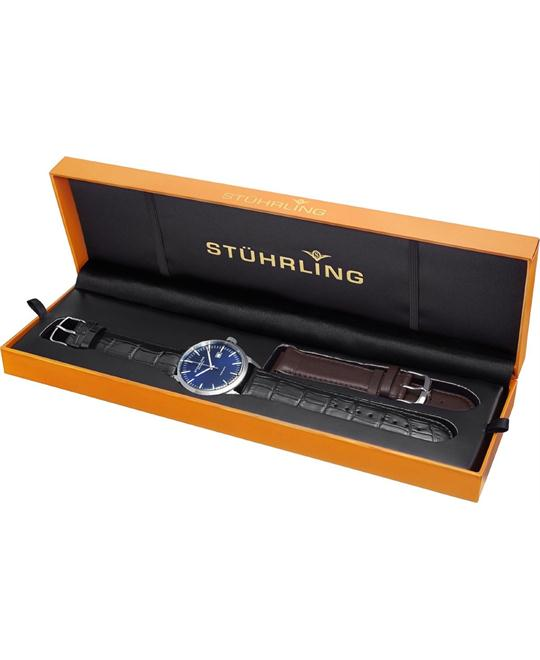 Stuhrling Original Men's 555A.04 Classic Ascot II Swiss Set Watch 42mm