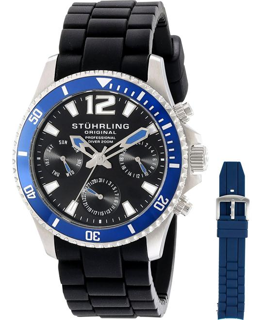 Stuhrling Original Men's 805R.SET.01 Aquadiver Watch Set 42mm