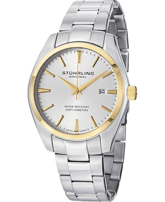 Stuhrling Original Men's Stainless Steel Bracelet Watch 42mm