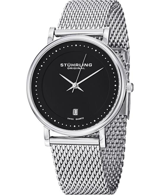 STUHRLING ORIGINAL MEN'S  STAINLESS STEEL WATCH 40MM