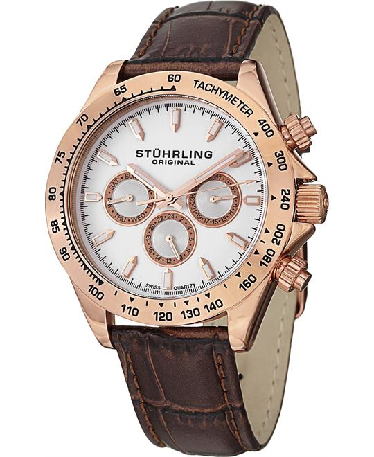Stuhrling Original Men's Swiss Rose Tone Watch 42mm