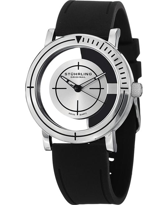Stuhrling Original Men'sSwiss Rubber Strap Watch 42mm