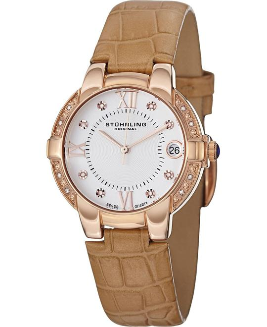 Stuhrling Original Rose Gold-Plated Women's  Watch 33mm