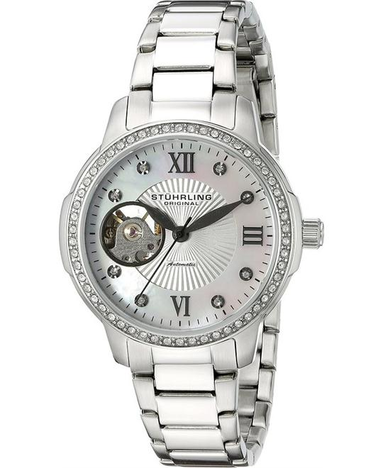 Stuhrling Original Women's 491.01 Automatic  Silver Watch 36.5mm