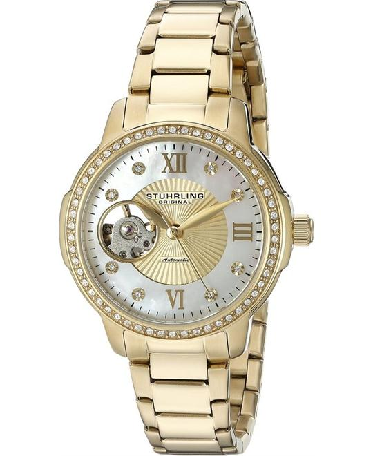 Stuhrling Original Women's 491.04  Automatic Gold Watch 36.5mm
