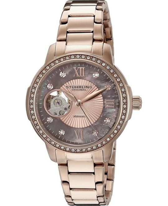 Stuhrling Original Women's 491.05 Automatic Rose Gold Watch 36.5mm
