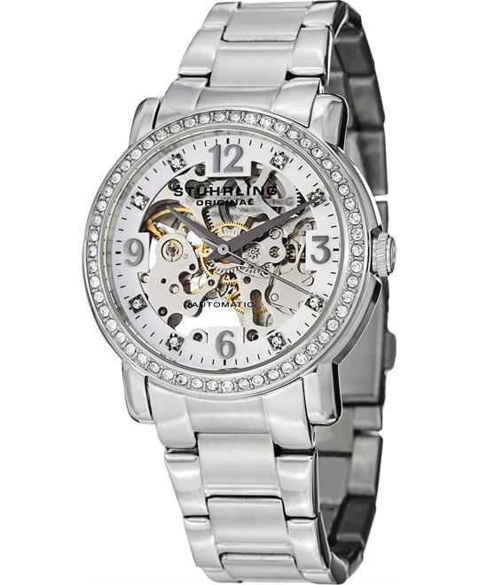 Stuhrling Original Women's 531L.11112 Crystal-Accented Watch 37mm