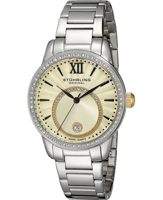 Stuhrling Original Women's 544B.03 Symphony Swiss Quartz Silver Watch 37mm