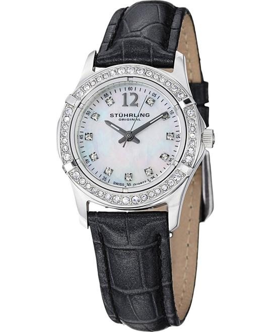 Stuhrling Original Women's 703.01 Farina Swiss Swarovski Watch 30mm