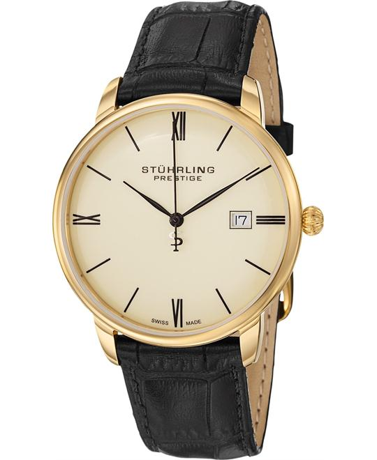 "Stuhrling Prestige 307L.333515 ""Kingston"" 23k Watch 42mm"